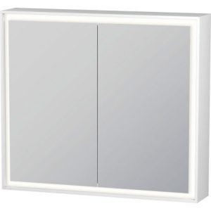 Duravit L-Cube 2 Door Wall Mounted Mirror Cabinet – 800mm Wide