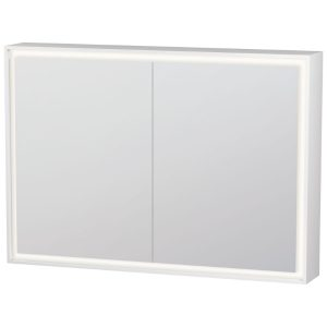 Duravit L-Cube 2 Door Wall Mounted Mirror Cabinet – 1000mm Wide