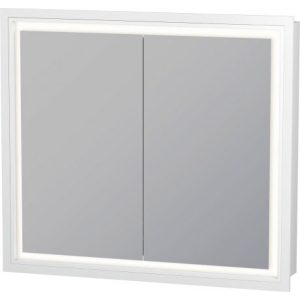 Duravit L-Cube 2 Door Wall Mounted Recessed Mirror Cabinet – 800mm Wide